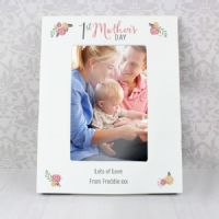 Personalised Floral Bouquet 1st Mother's Day 6x4 Photo Frame - P1011C75